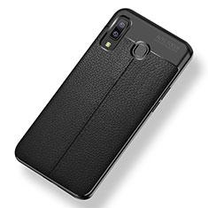 Silikon Hülle Handyhülle Gummi Schutzhülle Leder Tasche für Samsung Galaxy A9 Star SM-G8850 Schwarz