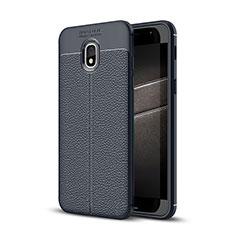 Silikon Hülle Handyhülle Gummi Schutzhülle Leder Tasche für Samsung Galaxy J3 (2018) SM-J377A Blau