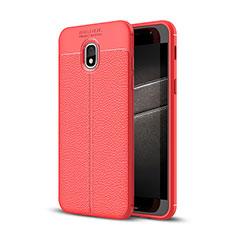 Silikon Hülle Handyhülle Gummi Schutzhülle Leder Tasche für Samsung Galaxy J3 (2018) SM-J377A Rot