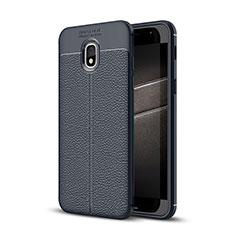 Silikon Hülle Handyhülle Gummi Schutzhülle Leder Tasche für Samsung Galaxy J3 Star Blau