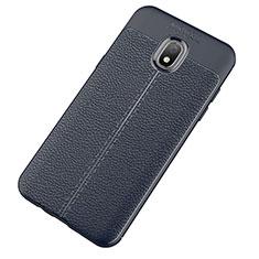 Silikon Hülle Handyhülle Gummi Schutzhülle Leder Tasche für Samsung Galaxy J7 (2018) J737 Blau