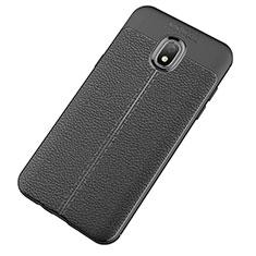 Silikon Hülle Handyhülle Gummi Schutzhülle Leder Tasche für Samsung Galaxy J7 (2018) J737 Schwarz