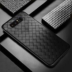 Silikon Hülle Handyhülle Gummi Schutzhülle Leder Tasche für Samsung Galaxy Note 8 Duos N950F Schwarz