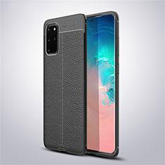 Silikon Hülle Handyhülle Gummi Schutzhülle Leder Tasche für Samsung Galaxy S20 Plus 5G Schwarz