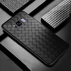 Silikon Hülle Handyhülle Gummi Schutzhülle Leder Tasche für Samsung Galaxy S8 Plus Schwarz