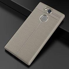 Silikon Hülle Handyhülle Gummi Schutzhülle Leder Tasche für Sony Xperia XA2 Ultra Grau