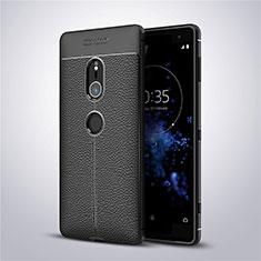 Silikon Hülle Handyhülle Gummi Schutzhülle Leder Tasche für Sony Xperia XZ2 Schwarz