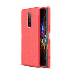 Silikon Hülle Handyhülle Gummi Schutzhülle Leder Tasche für Sony Xperia XZ4 Rot