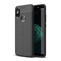 Silikon Hülle Handyhülle Gummi Schutzhülle Leder Tasche für Xiaomi Mi 6X Schwarz