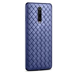 Silikon Hülle Handyhülle Gummi Schutzhülle Leder Tasche für Xiaomi Mi 9T Pro Blau