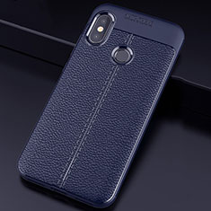Silikon Hülle Handyhülle Gummi Schutzhülle Leder Tasche für Xiaomi Mi A2 Lite Blau