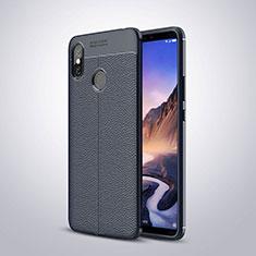 Silikon Hülle Handyhülle Gummi Schutzhülle Leder Tasche für Xiaomi Mi Max 3 Blau