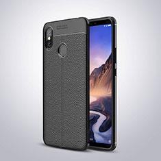 Silikon Hülle Handyhülle Gummi Schutzhülle Leder Tasche für Xiaomi Mi Max 3 Schwarz