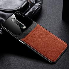 Silikon Hülle Handyhülle Gummi Schutzhülle Leder Tasche für Xiaomi Poco X2 Braun