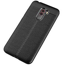 Silikon Hülle Handyhülle Gummi Schutzhülle Leder Tasche für Xiaomi Pocophone F1 Schwarz