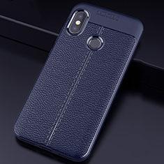 Silikon Hülle Handyhülle Gummi Schutzhülle Leder Tasche für Xiaomi Redmi 6 Pro Blau
