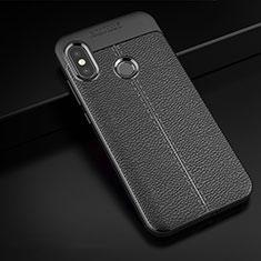 Silikon Hülle Handyhülle Gummi Schutzhülle Leder Tasche für Xiaomi Redmi 6 Pro Schwarz