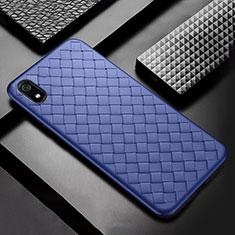 Silikon Hülle Handyhülle Gummi Schutzhülle Leder Tasche für Xiaomi Redmi 7A Blau