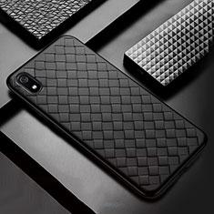 Silikon Hülle Handyhülle Gummi Schutzhülle Leder Tasche für Xiaomi Redmi 7A Schwarz