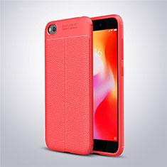Silikon Hülle Handyhülle Gummi Schutzhülle Leder Tasche für Xiaomi Redmi Go Rot