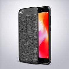 Silikon Hülle Handyhülle Gummi Schutzhülle Leder Tasche für Xiaomi Redmi Go Schwarz