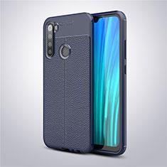 Silikon Hülle Handyhülle Gummi Schutzhülle Leder Tasche für Xiaomi Redmi Note 8 Blau