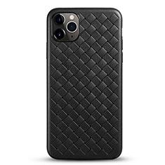 Silikon Hülle Handyhülle Gummi Schutzhülle Leder Tasche G01 für Apple iPhone 11 Pro Max Schwarz