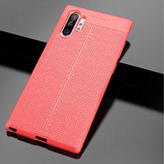 Silikon Hülle Handyhülle Gummi Schutzhülle Leder Tasche G01 für Samsung Galaxy Note 10 Plus Rot