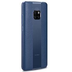 Silikon Hülle Handyhülle Gummi Schutzhülle Leder Tasche H01 für Huawei Mate 20 RS Blau