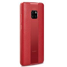 Silikon Hülle Handyhülle Gummi Schutzhülle Leder Tasche H01 für Huawei Mate 20 RS Rot