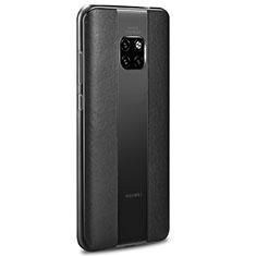 Silikon Hülle Handyhülle Gummi Schutzhülle Leder Tasche H01 für Huawei Mate 20 RS Schwarz