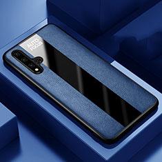 Silikon Hülle Handyhülle Gummi Schutzhülle Leder Tasche H03 für Huawei Honor 20 Blau