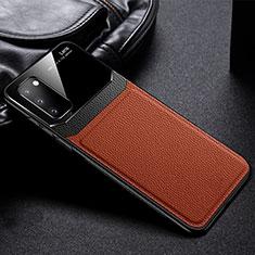 Silikon Hülle Handyhülle Gummi Schutzhülle Leder Tasche H04 für Samsung Galaxy S20 5G Braun