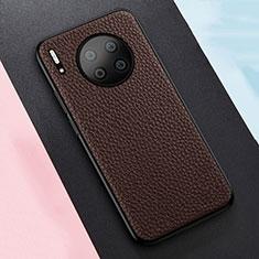 Silikon Hülle Handyhülle Gummi Schutzhülle Leder Tasche H05 für Huawei Mate 30 5G Braun
