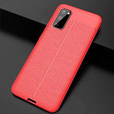 Silikon Hülle Handyhülle Gummi Schutzhülle Leder Tasche H05 für Samsung Galaxy S20 5G Rot