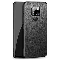 Silikon Hülle Handyhülle Gummi Schutzhülle Leder Tasche H06 für Huawei Mate 20 Schwarz