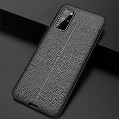 Silikon Hülle Handyhülle Gummi Schutzhülle Leder Tasche H06 für Samsung Galaxy S20 Plus Schwarz