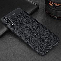 Silikon Hülle Handyhülle Gummi Schutzhülle Leder Tasche H07 für Huawei P20 Pro Schwarz