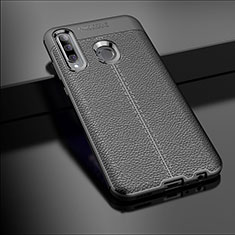 Silikon Hülle Handyhülle Gummi Schutzhülle Leder Tasche S01 für Huawei Enjoy 9s Schwarz