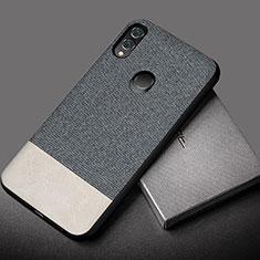 Silikon Hülle Handyhülle Gummi Schutzhülle Leder Tasche S01 für Huawei Honor 10 Lite Grau