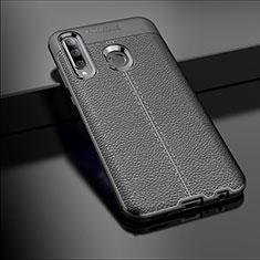 Silikon Hülle Handyhülle Gummi Schutzhülle Leder Tasche S01 für Huawei Honor 20i Schwarz