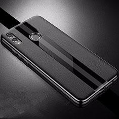 Silikon Hülle Handyhülle Gummi Schutzhülle Leder Tasche S01 für Huawei Honor 8X Schwarz