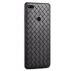 Silikon Hülle Handyhülle Gummi Schutzhülle Leder Tasche S01 für Huawei Honor 9 Lite Schwarz