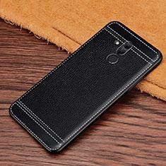 Silikon Hülle Handyhülle Gummi Schutzhülle Leder Tasche S01 für Huawei Mate 20 Lite Schwarz
