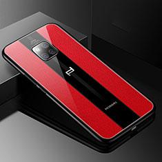 Silikon Hülle Handyhülle Gummi Schutzhülle Leder Tasche S01 für Huawei Mate 20 RS Rot