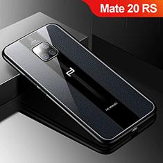 Silikon Hülle Handyhülle Gummi Schutzhülle Leder Tasche S01 für Huawei Mate 20 RS Schwarz