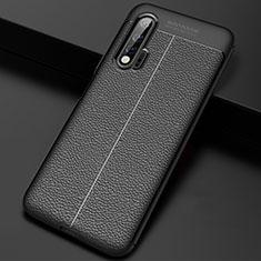 Silikon Hülle Handyhülle Gummi Schutzhülle Leder Tasche S01 für Huawei Nova 6 5G Schwarz