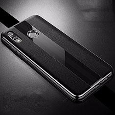 Silikon Hülle Handyhülle Gummi Schutzhülle Leder Tasche S01 für Huawei P Smart+ Plus Schwarz