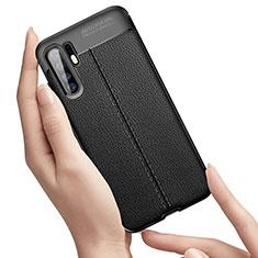 Silikon Hülle Handyhülle Gummi Schutzhülle Leder Tasche S01 für Huawei P30 Pro Schwarz