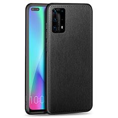 Silikon Hülle Handyhülle Gummi Schutzhülle Leder Tasche S01 für Huawei P40 Pro+ Plus Schwarz